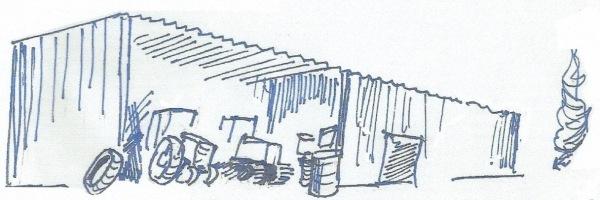 מבנה המוסך